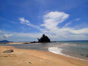 One of many spectacular beaches along the east coast of Peninsular Malaysia and the South China Sea