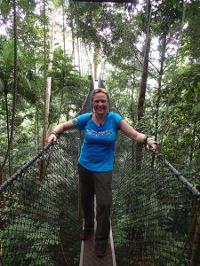 On the Canopy Walkway in Taman Negara.