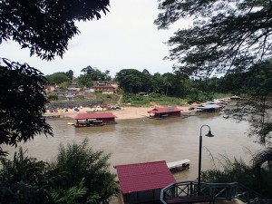 The view from the park entrance to Kuala Tehan, where most accommodation is located for those visiting the park. To get to the park entrance, you catch a little boat over for the measly price of 1 Ringgit (about 35 cents).