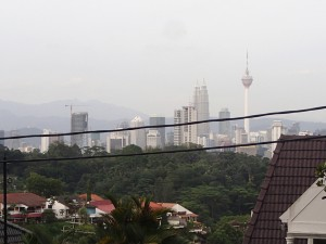 The fabulous view of the KL skyline from the top of the totally unnecessary climb I made at the end of a looooong day