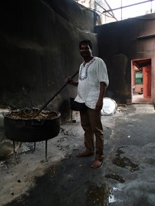 Now that's a pot! Cooking Indian food enmasse in the back alleys of Melaka.