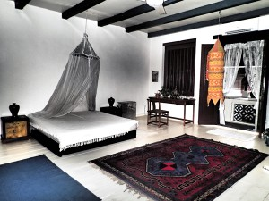 My boudoir in Melaka. Lovely high ceilings and plenty of room. I'm a lucky camper!