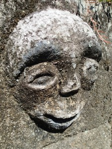 A rock carving on Samosir Island, Lake Toba.