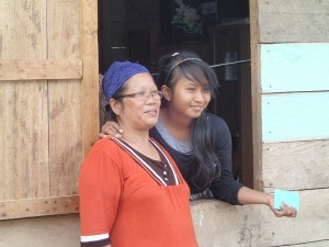 Mala, the owner of the restaurant near the land title office, and her daughter Anna-Sofia