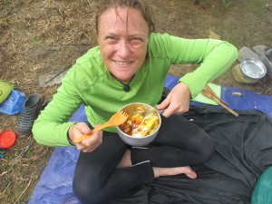 I've been getting a little spoiled by Monika's wonderful camp cooking, she's a bit of a whizz. (Photo by Monika)
