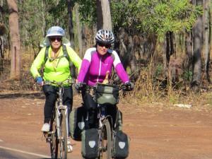 Mum and I cruising down the road in Kakadu National Park.
