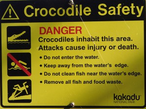 Crocodile safety: love the last picture...