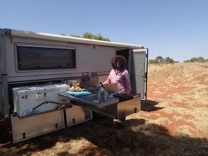 Cooking cake for the cyclist in the middle of nowhere. How good is my mum????