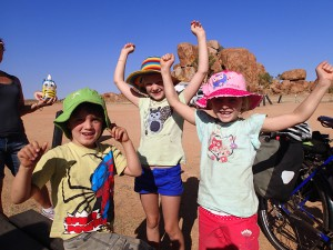 The sunsmart kids of the Ellem family who donated generously and were generally enthusiastic about everything. Woo hoo!