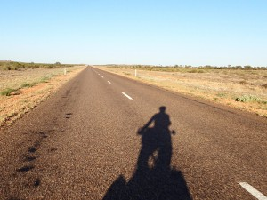 On the road to Uluru