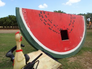 A big piece of watermelon somewhere in Queensland