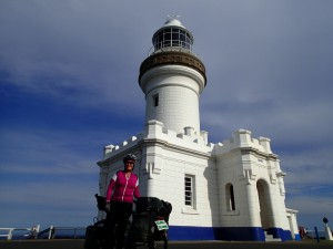 The most easterly point of Australia (Cape Byron) and a dasturdly steep climb to get up there. Yes, Jane is a legend.